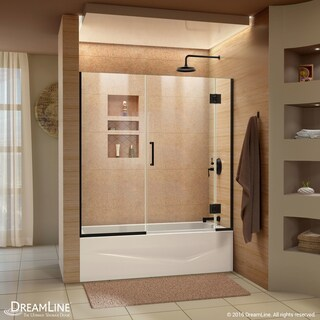 DreamLine Unidoor-X 58-58 1/2 in. W x 58 in. H Frameless Hinged Tub Door - 58.5 in. w x 58 in. h
