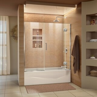 DreamLine Unidoor-X 58-58 1/2 in. W x 58 in. H Frameless Hinged Tub Door - 58.5 in. w x 58 in. h