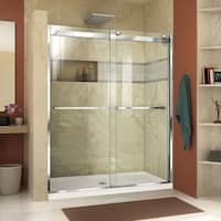 DreamLine Essence-H 56-60 in. W x 76 in. H Semi-Frameless Bypass Shower Door
