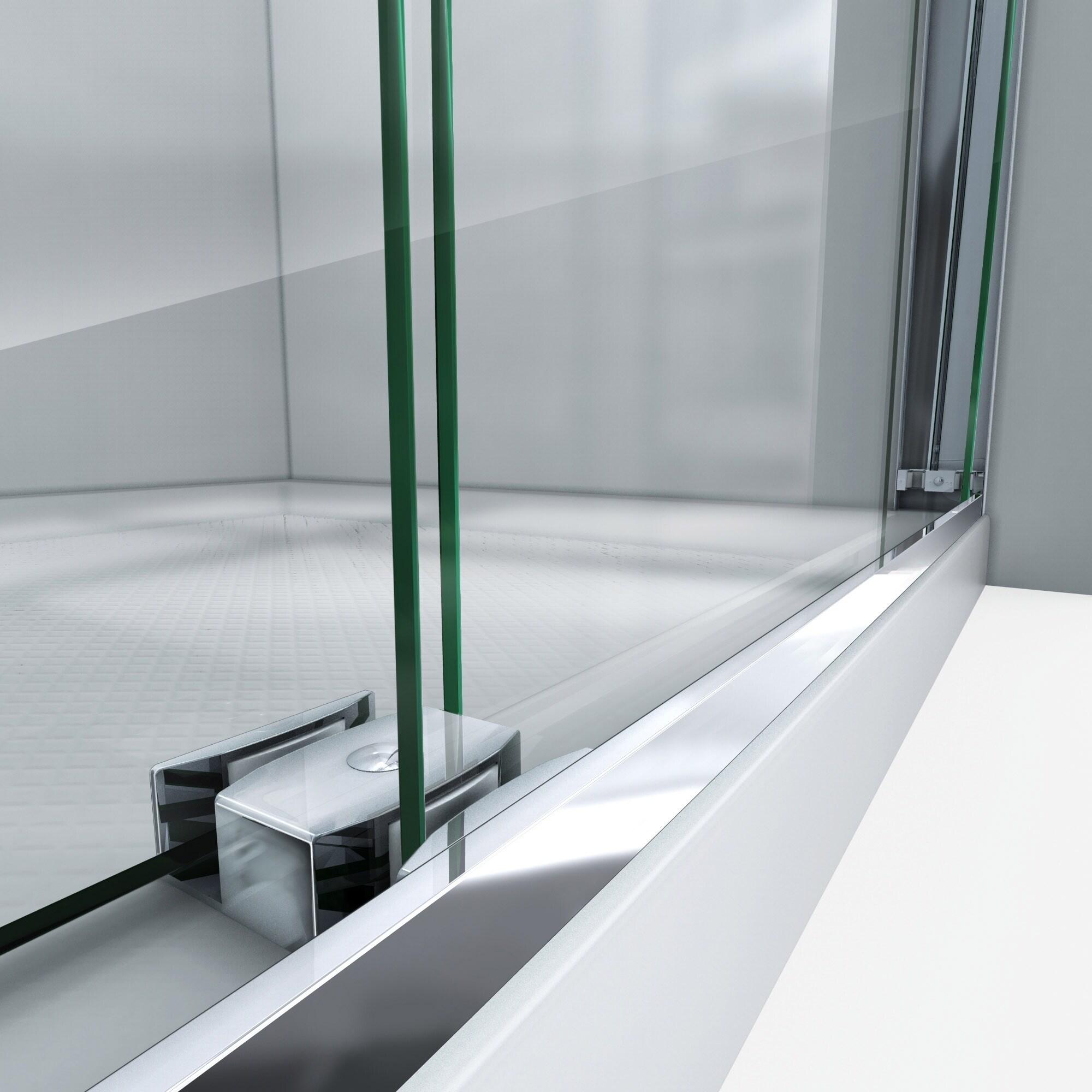 Dreamline Essence H 44 48 In W X 76 In H Semi Frameless Bypass Shower Door 44 48 W
