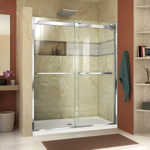 """DreamLine Essence-H 44-48 in. W x 76 in. H Semi-Frameless Bypass Shower Door - 44"""" - 48"""" W"""