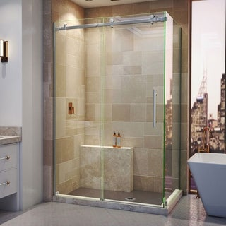 DreamLine Enigma Air 34 3/4 in. D x 48 3/8 in. W x 76 in. H Frameless Sliding Shower Enclosure (2 options available)