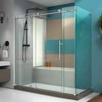 DreamLine Enigma-X 34 1/2 in. D x 72 3/8 in. W x 76 in. H Fully Frameless Sliding Shower Enclosure