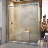DreamLine Enigma Air 34 3/4 in. D x 60 3/8 in. W x 76 in. H Frameless Sliding Shower Enclosure