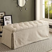 Jahaven Transitional Classic Tufted Skirted Bench by FOA