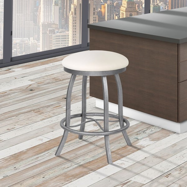 Shop Florence 26 Quot Counter Height Metal Backless Swivel