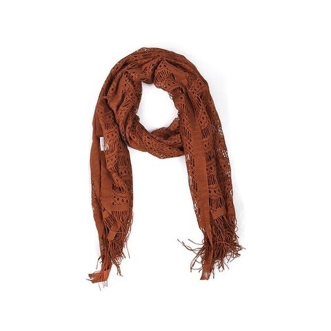 Wrapables Laced Lightweight Colorful Rectangle Brown Scarves