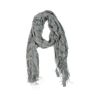 Wrapables Laced Lightweight Colorful Rectangle Gray Scarves