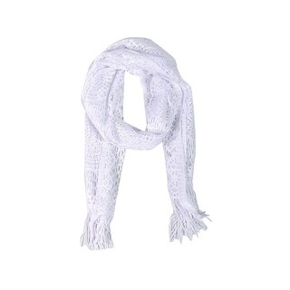 Wrapables Laced Lightweight Colorful Rectangle White Scarves