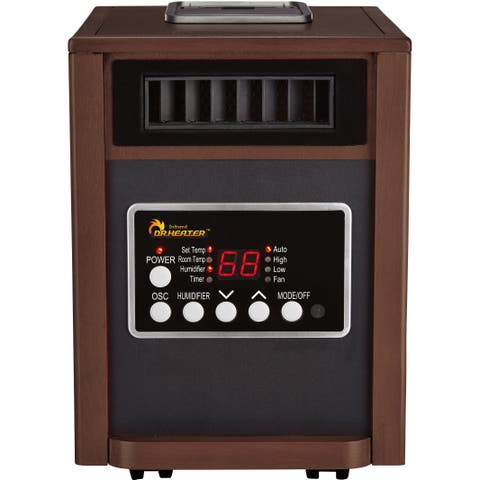 Dr Infrared Heater DR998, with Humidifier, Oscillation Fan, Walnut