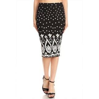Women's Tapestry Pattern Pencil Skirt