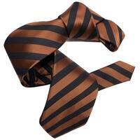 Dmitry Men's Copper/Black Striped Italian Silk Tie