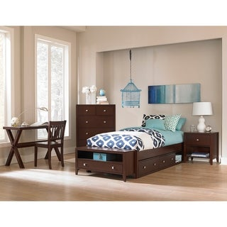 Hillsdale Pulse Twin Platform Bed with Storage , Chocolate
