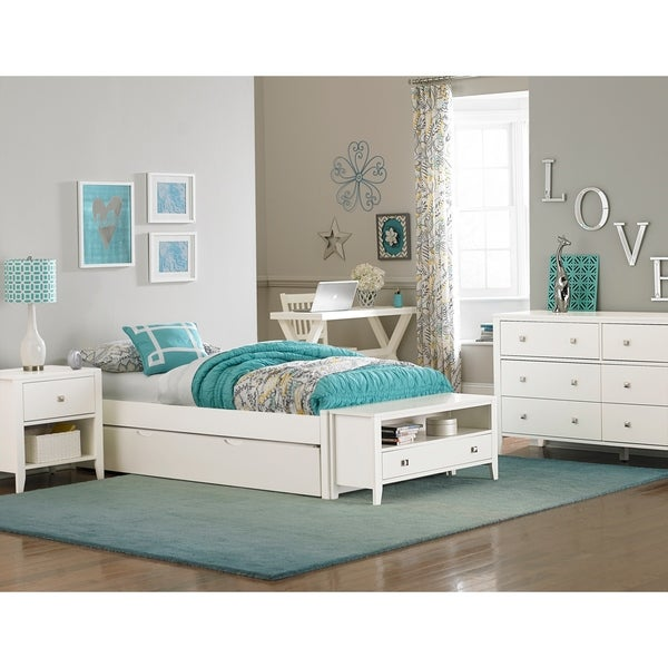Hillsdale Pulse Full Platform Bed with Trundle, White