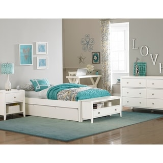 Hillsdale Pulse Twin Platform Bed with Trundle, White