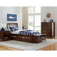 Hillsdale Pulse Twin Mission Bed with Trundle , Chocolate