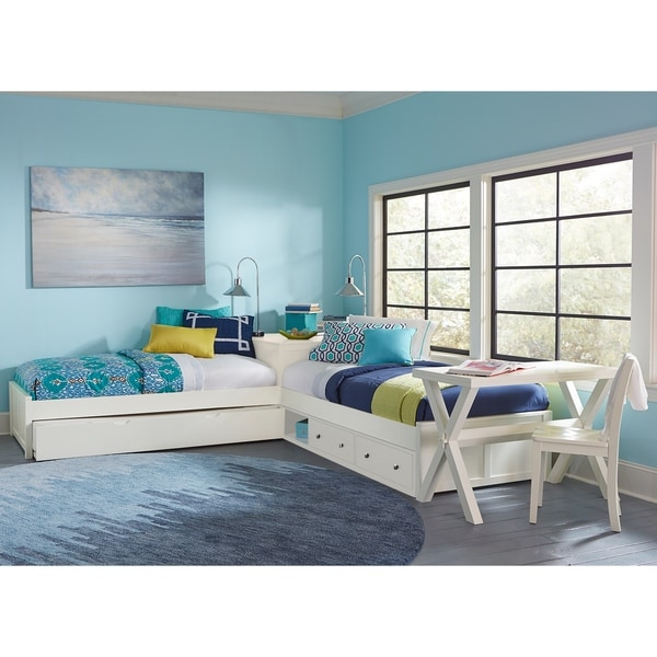 Shop Hillsdale Pulse L Shape Bed with Storage and Trundle, White