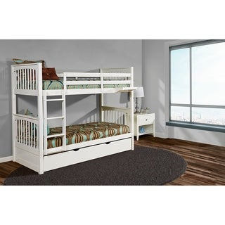 Hillsdale Pulse Twin Over Twin Bunk with Trundle, White
