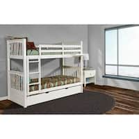 Woodland Bunk Bed Twin Over Twin With Urban Trundle Bed In