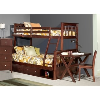 Hillsdale Pulse Twin Over Full Bunk with Storage, Chocolate