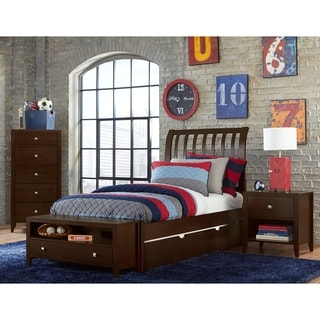 Hillsdale Pulse Full Rake Sleigh Bed with Trundle , Chocolate