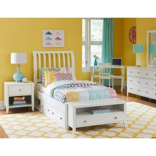 Hillsdale Pulse Full Rake Sleigh Bed with Storage , White