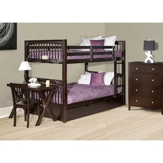 Paloma wood full over full bunk bed free shipping today for Furniture of america pello full over full slatted bunk bed