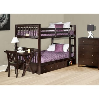 Hillsdale Pulse Full Over Full Bunk with Storage, Chocolate