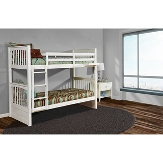 Hillsdale Pulse Twin Over Twin Bunk, White