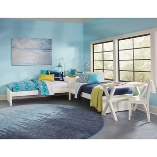 Hillsdale Pulse L-Shape Bed, White