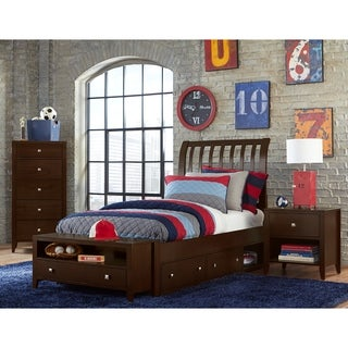 Hillsdale Pulse Full Rake Sleigh Bed with Storage , Chocolate