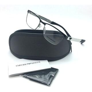 Emporio Armani Gunmetal Eyeglasses EA 1057 3001 52 mm Designer Demo Lenses