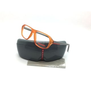 Prada Sport Orange Eyeglasses VPS 05G UFL 1O1 55 mm Tranparent Tangerine