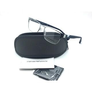Emporio Armani Gunmetal Eyeglasses EA 1027 3046 53 mm Designer Demo Lenses