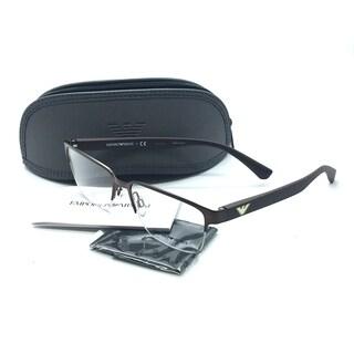 Emporio Armani Brown Eyeglasses EA 1055 3164 55 mm Designer Demo Lenses