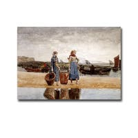 Two Girls on the Beach by Winslow Homer Gallery-Wrapped Canvas Giclee Art
