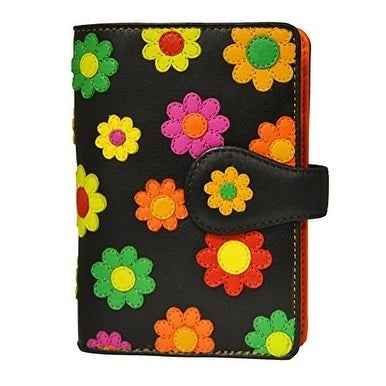 Visconti Spanish DS-82 Womens Floral Multi Colored Bifold...