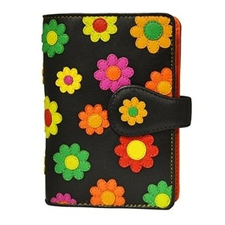 Visconti Spanish DS-82 Womens Floral Multi Colored Bifold Wallet DAISY COLLEC...