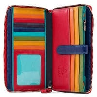 Visconti Spectrum 33 Multi Colored Soft Leather Ladies Wallet Purse Clutch