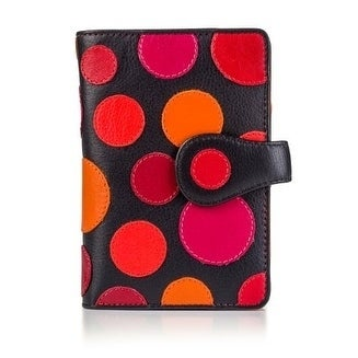 Visconti-P1-Saturn-Ladies-Soft-Leather-Large-Bifold-Wallet-Purse-with-Polka thumbnail 7