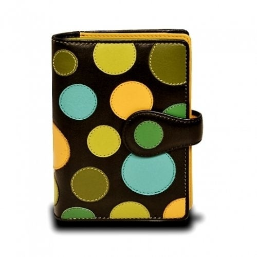 Visconti-P1-Saturn-Ladies-Soft-Leather-Large-Bifold-Wallet-Purse-with-Polka thumbnail 14