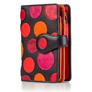 Visconti-P1-Saturn-Ladies-Soft-Leather-Large-Bifold-Wallet-Purse-with-Polka thumbnail 9