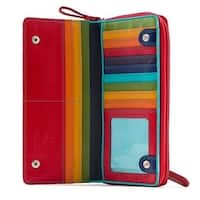 Visconti Spectrum 35 Multi Color Ladies Soft Leather Checkbook Wallet And Purse