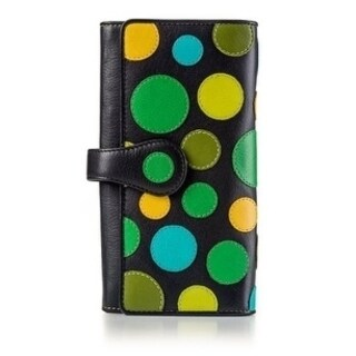 Visconti P2 Neptune Soft Womans' Leather Wallet / Purse with Polka Dots