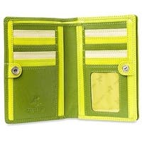 Visconti Penang RB109 Ladies Multi Colored Leather Organizer Card Holder Wallet