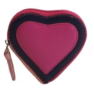 Visconti Capri RB59 Multi Colored Heart Shaped Ladies/ Girls Leather Coin Purse