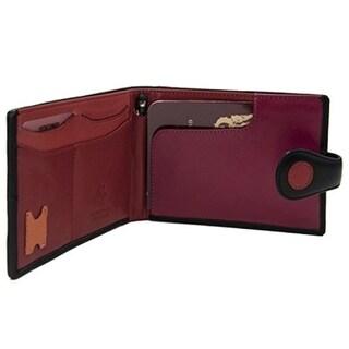 Visconti Genuine Leather P5 Polka Secure RFID Blocking Passport Travel Wallet