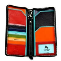 Visconti SP28 Multi Colored Soft Leather Travel Wallet