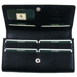 Visconti Heritage -35 Soft Leather Large Ladies Purse Wallet (Option: Black)