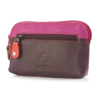 Visconti RB62 Multi Color Soft Leather Coin Purse Key Wallet With Key Chain